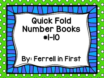 Quick Fold Number Books: #1-10