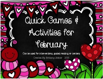 Quick Games and Activities for February