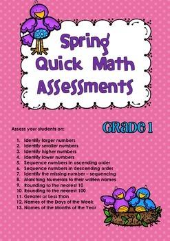 Quick Maths Assessments Spring