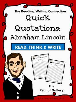Quick Quotations: Abraham Lincoln