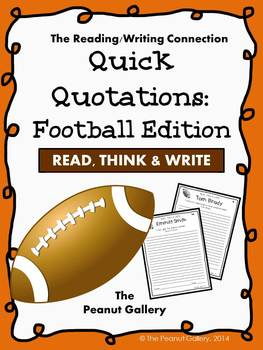 Quick Quotations: Football Edition