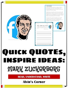 Quick Quotes, Inspire Ideas - Mark Zuckerberg: Founder of