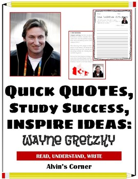 Quick Quotes, Inspire Ideas - Wayne Gretzky: Hockey Player (NHL)