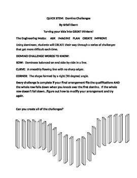 Quick STEM:  Domino Challenges