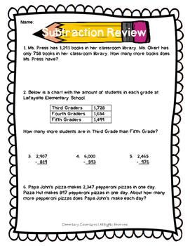 Quick Subtraction Review