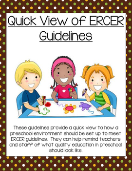 Quick View of ERCER guidelines (checklist for preschool cl