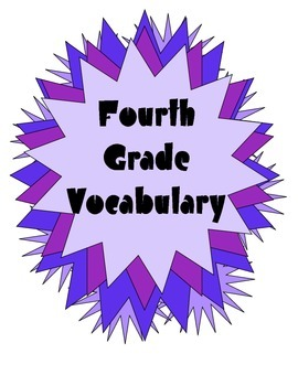 Quick Vocabulary Weekly Tests with Posters for Fourth Grade