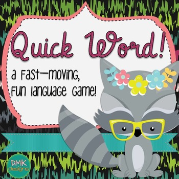 Quick Word Vocabualry Card Game