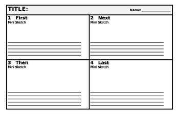 Quick Write Graphic Organizer