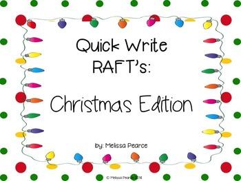 Quick Write Rafts: Christmas Edition