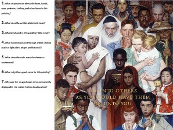 Quick Write - The Golden Rule (Norman Rockwell)