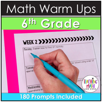 Quick Writes Math Journal {Grade 6}