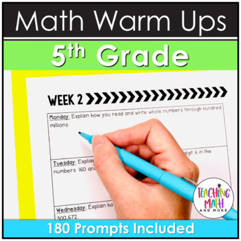 Quick Writes Math Journal {Grade 5}