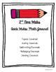 Quick Writes Math Journal {Grade 5}