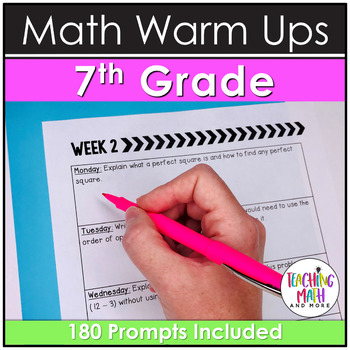 Quick Writes Math Journal {Grade 7}