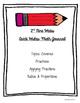 Quick Writes Math Journal {Grade 7}