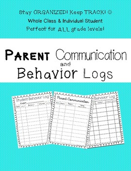 Quick and Easy Behavior and Communication Logs!