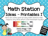 MATH STATIONS: Quick & Easy Stations I- 19 Complete Stations