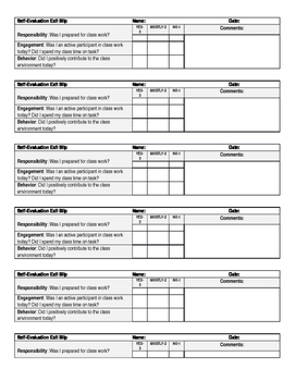Quick and Easy Reflective Exit Slip