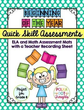 Quick and Easy Skill Assessment Mats for Grade One {Beginn