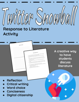 """""""Twitter"""" Snowball activity; quick activity for any short"""