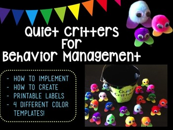Quiet Critter Behavior Management Printable