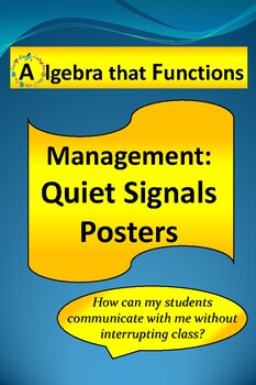 Classroom Management Quiet Signal Posters to get Teacher's