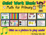 Quiet Work Music At Your Fingertips - Math for Primary