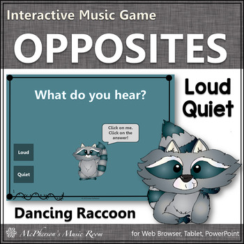 Quiet or Loud - Interactive Music Game (raccoon)