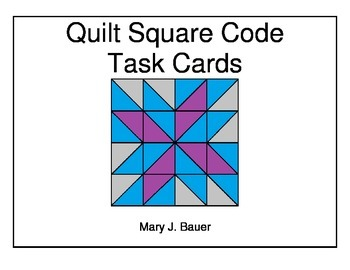 Quilt Square Task Cards