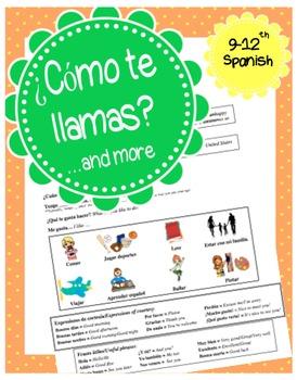 Basic Spanish conversation activity for beginners- ¿Cómo t