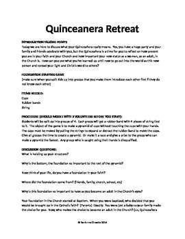 Quinceanera Retreat Activities