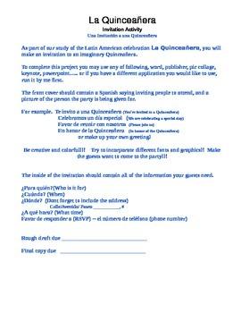 Quinceanera invitation project