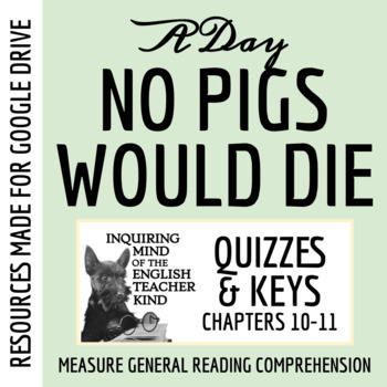 A Day No Pigs Would Die Quiz (Chapters 10-11)