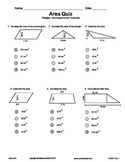 Quiz - Area Of Triangles, Parallelograms, Trapezoids