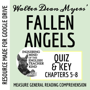 Fallen Angels by Walter Dean Myers - Quiz (pg. 97-204)