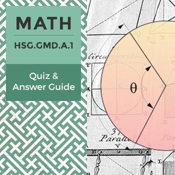 Quiz: HSG.GMD.A.1