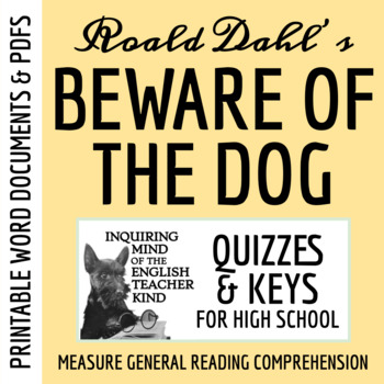 """Beware of the Dog"" by Roald Dahl - Quiz & Key"