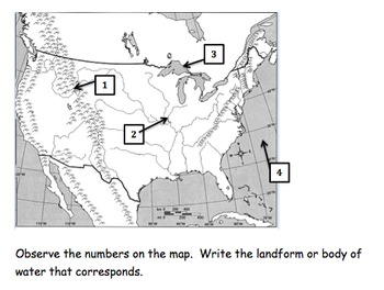 Landforms and Bodies of Water (English and Spanish)