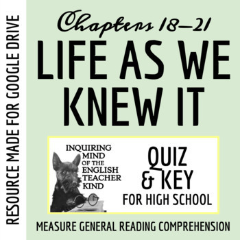 Life As We Knew It Quiz (Chap. 18-21)