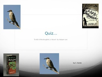Quiz -  On -To Kill A Mockingbird by Harper Lee