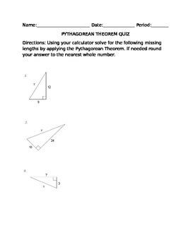 Quiz: Pythagorean Theorem