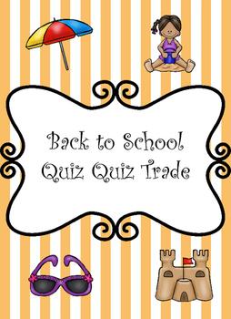 Kagan Quiz Quiz Trade Beginning of the Year Activity