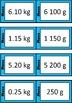 Quiz Quiz Trade Cards - Converting Grams To Kilograms