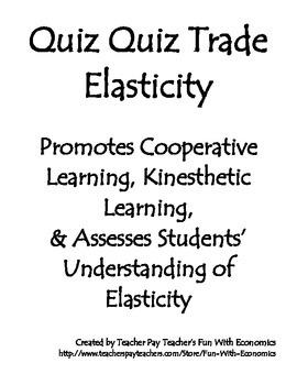 Quiz Quiz Trade Economics Elasticity - Elastic vs Inelasti
