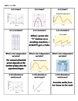 Quiz Quiz Trade!- Foundations of Algebra