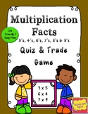 Quiz, Quiz, Trade Game for Multiplication facts 3's, 4's,