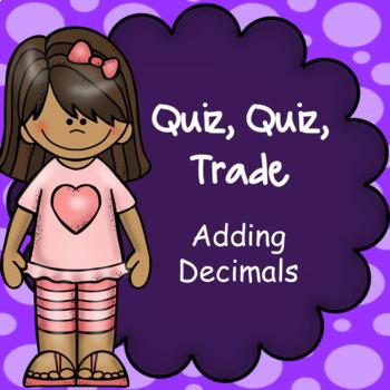 Quiz Quiz Trade Mental Math Adding Decimals