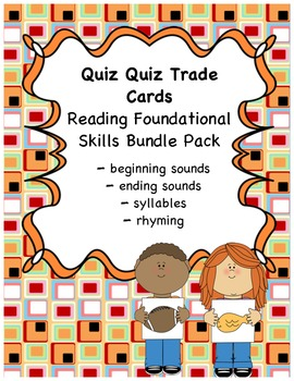 Quiz Quiz Trade  (Phonological Awareness) Bundle Pack{comm