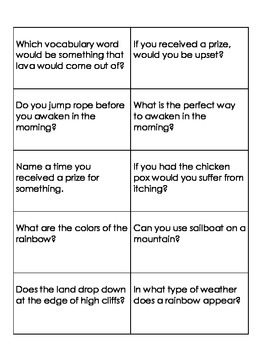 Quiz Quiz Trade Question Cards for The First Tortilla (Rea